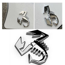 3D Metal Silver Scorpion Car Sticker Truck Auto Decor Badge Emblem Logo Decal
