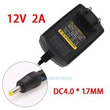 EU-Stecker Netzteil Netzadapter AC110-240V auf/zu DC12V 2A Adapter 4.0mm X 1.7mm