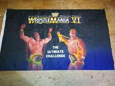 "WCW Wrestling WCW, WWF, WWE ""WrestleMania VI"" 3*5 ft flag banner"