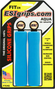 ESI FIT CR Grips Aqua Taper from the Racer grip size to the Chunky grip size