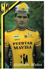 CYCLISME carte cycliste ALEJANDRO MUNOZ équipe PUERTAS MAVISA