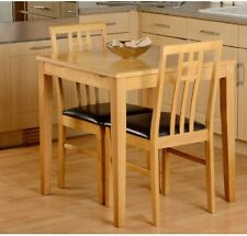 Small Kitchen Table Set For 2 Square Wooden Oak Space Saving Dining Furniture