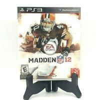EA Sports Madden 12 Sony PS3 PlayStation 3 Complete Game Case Manual Very Good