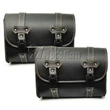 2x Motorcycle Luggage Saddlebag For Harley Dyna Softail Sportster Touring V-Rod