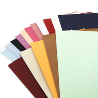 Solid Color Double Sided Suede Faux Leather Sheet for Sewing Crafting 20*34 cm