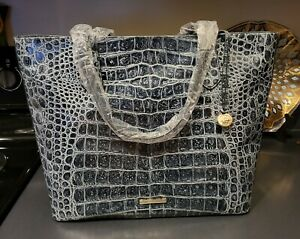 Brahmin OBSIDIAN VEIL Misha TOTE purse Evergreen NWT Orig package XL CARRYALL