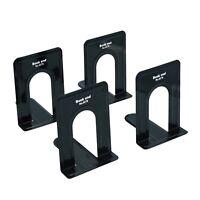 Lafbo™ Premium Heavy-Duty Black Bookends – Metal L-Shaped Bookends