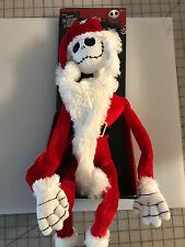 Tim Burton Disney NIGHTMARE BEFORE CHRISTMAS POSEABLE JACK SKELLINGTON PLUSH NIB