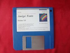 Original Amiga Fonts Version 3.0 AMIGA Commodore DISKETTE