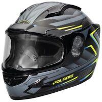 Polaris Cyclone 2.0 Gloss Blue Anti-Fog Dual Lens Snowmobile Helmet, 2866118XX