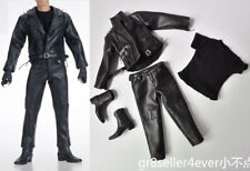 JGTOYS 1:6 Ghost Rider Nicolas Cage Leather Jacket Suit Boots Clothes set