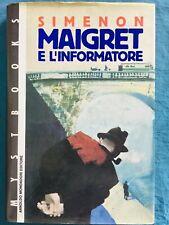 Maigret e l'informatore. Georges Simenon Mondadori 1991