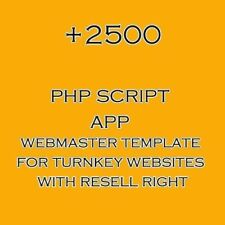 2500+ php script collection for turnkey websites with resell right 100% profits