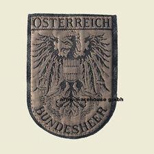 österr. Bundesheer Aufnäher, BH Abzeichen, ÖBH, oliv, gebraucht, Austrian Army