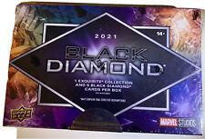 More details for 2021 upper deck marvel black diamond hobby box - factory sealed