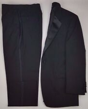 Jos A Bank Tuxedo 42L Mens Size Wool Black Long Formal Wedding Prom Vent Lined**