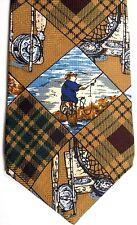 "Flying Scotsman Men's Sports Novelty Silk Tie 58.5"" X 4"" Fly Fishing"