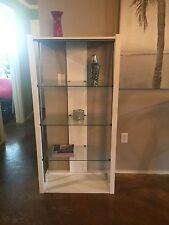 White and metallic modern glass book shelf
