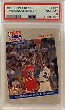 1993 Michael Jordan Upper Deck #187 PSA 8 NM-MT GOAT HOF