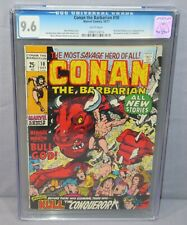 CONAN THE BARBARIAN #10 (White Pages) CGC 9.6 NM+ Marvel Comics 1971 King Kull