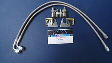 "WILWOOD 1/8"" NPT BRAIDED STAINLESS STEEL BRAKE HOSE KIT W/ 90 DEGREE FITTING"