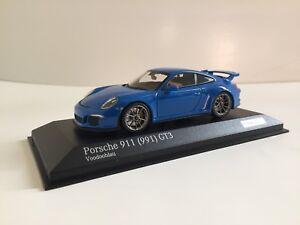 Minichamps 1:43 Porsche 911 991 GT3 Voodoo Blue