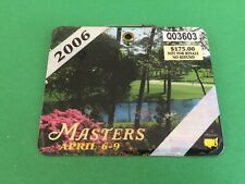 Phil Mickelson Winner Golf Augusta Masters Champions 2006 Weekly Badge Ticket