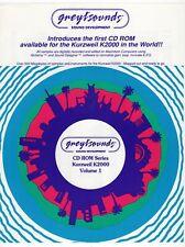 "Vintage Flyer: ""Greytsounds Sound Development - CD ROM Kurzweil K2000 Vol. 1"""