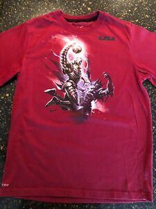 """Nike LeBron James """"SUPERHERO COMIC"""" Dri-Fit T-Shirt Youth SZ L"""