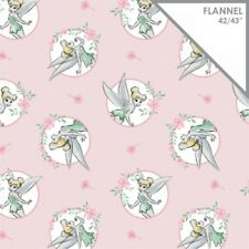 Camelot Disney Tinkerbell 85400101B 1 Lt Pink Frames FLANNEL BTY Cotton Fabric