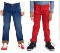 Boys jeans denim ex store M * S Baby 12 18 months 2 3 4 5 6 years  grey red NEW