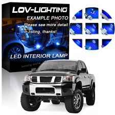 Pure Blue Light Bulb SMD Interior LED Package Kit For Nissan Titan 2004 -2015