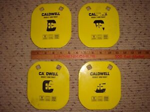 """Lot of 4 - Caldwell 1116700 AR500 5"""" Gong Targets"""