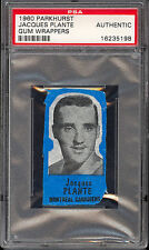 1960-61 PARKHURST HOCKEY Jacques Plante Gum Wax wrappers Graded psa Authentic
