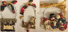 LOTS OF 3 PCS CHRISTMAS ORNAMENTS CHRISTMAS THREE HOLIDAY REINDEERS SNOWMAN SANT