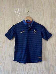 FRANCE 2012 2013 HOME FOOTBALL SHIRT SOCCER JERSEY NIKE 449669-405 sz 10-12 YEAR