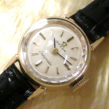 Ladies 1965 Omega 14K SOLID GOLD Ladymatic 17j Swiss Automatic Vintage Watch A+