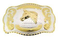 Horse Belt Buckle Gold Silver Metal Usa Rodeo Cowboy Large Western Women Men New