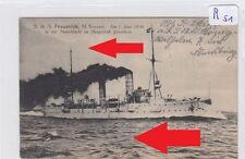 376, Marine Die SMS Frauenlob in fahrt gelaufen MSP 1916 !