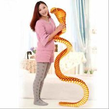 Big Stuffed Animal Simulation Gold Cobra Snake King Plush Toy Tricky Doll 2.5M