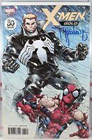 💥 SIGNED! X-MEN GOLD #25 VENOM VARIANT TODD MCFARLANE Marvel SPIDERMAN Spawn VF