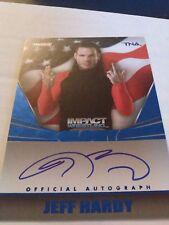 Jeff Hardy 2013 Tristar TNA Impact Glory On Card Auto Blue /10