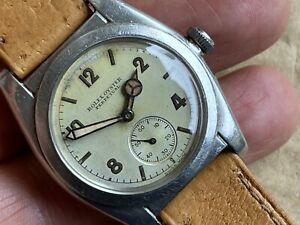 1943 Rare Rolex Oyster Perpetual 2764 Chronometer Bubble Back Original Dial WW2