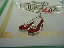 Alex and Ani WIZARD OF OZ, GLITTER RUBY SLIPPERS  Bangle New W/Tag Card & Box