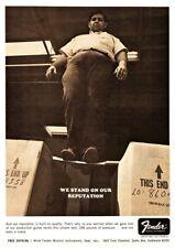 Fender POSTER Vintage FUNNY Promo Ad *LARGE* Strat Telecaster guitar P Bass neck