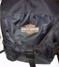 HARLEY DAVIDSON Black Backpack and Helmet Bag with Bar and Shield Logo NEW