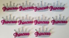 10 Baby Shower Princess Silver Crowns Foam Party Decorations it's a Girl Favors
