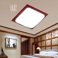 LED Modern Wood Home Lamp Ceiling Lights Tatami Bedroom Living Room Light Part 97