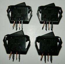 Lot of 4 New Carling Momentary Mini Rocker Panel Switch SPST 12A @ 125VAC 1/2 HP