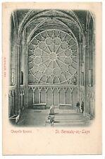 CPA 78 - SAINT GERMAIN EN LAYE (Yvelines) - Chapelle Rosace - Dos non divisé